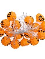 La stringa della zucca di Halloween di 1set ha condotto la spina variopinta bianca ac220v della lampada 2.5mm della lampada della luce