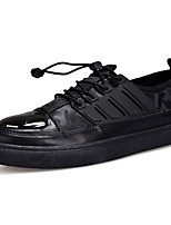 Men's Shoes PU Spring Fall Comfort Sneakers Lace-up For Casual Black Dark Blue