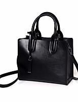 Women Bags All Seasons PU Tote Zipper for Casual Black Purple Light Green