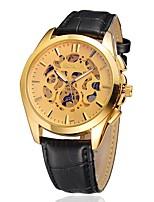 Men's Dress Watch Fashion Watch Mechanical Watch Automatic self-winding Leather Band