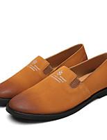 Для мужчин обувь Кожа Весна Осень Мокасины Мокасины и Свитер Назначение Повседневные Серый Коричневый Синий