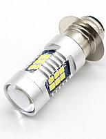 2x h6m p15d 3030 21-smd lâmpada led drl tfl farol luz de nevoeiro luz de baixo feixe branco