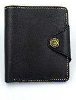 Men Bags All Seasons Other Leather Type Wallet Zipper for Event/Party Formal Black Brown Dark Red