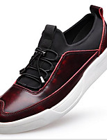 Men's Shoes Cowhide Spring Fall Light Soles Loafers & Slip-Ons For Casual Red Gray Black
