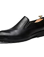 Men's Shoes PU Spring Fall Comfort Loafers & Slip-Ons For Casual Red Black