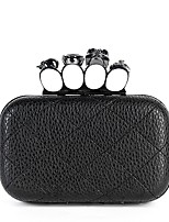 Women Bags All Seasons PU Evening Bag Crystal Detailing for Wedding Event/Party Black