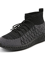 cheap -Men's Shoes Knit Winter Spring Comfort Sneakers For Casual Black/Red Light Grey Dark Grey Black