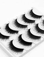5 Ресницы Ресницы Ленточные накладные ресницы Толстые Зрительно удлиняет уголок глаза Ручная работа Волокно Black Band