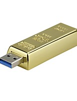 8gb Ssb Flash Drive Bullion Gold USB 2.0 Flash Memory Drive Stick U Disk Pen drive