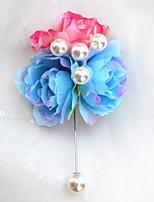 Свадебные цветы Бутоньерки Свадебное белье Бусины Около 7 см