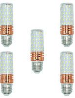 5pcs 16W E27 Ampoules Maïs LED T 84 diodes électroluminescentes SMD 2835 Blanc Chaud Blanc Couleur double source lumineuse 1300lm
