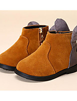 Girls' Shoes Nubuck leather Winter Comfort Boots For Casual Red Yellow Black