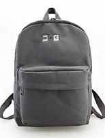 Women Bags Canvas School Bag Zipper for Casual All Seasons Blue Black Orange Gray