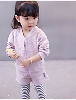 Girls' Solid Sets,Cotton Fall Long Sleeve Clothing Set