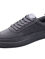 Men's Shoes PU Spring Fall Comfort Sneakers Lace-up For Casual Black Gray Red