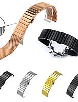 abordables -pour samsung engrenage s3 bracelet en acier inoxydable en métal milanese fermoir bracelet de montre intelligente
