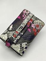 Women Bags Cowhide Wallet Zipper for Casual All Seasons Purple Fuchsia Light Grey
