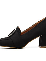 Для женщин Обувь Нубук Весна Осень Удобная обувь Обувь на каблуках На шпильке Назначение Повседневные Черный Коричневый