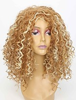 Women Synthetic Wig Capless Long Strawberry Blonde/Bleach Blonde Middle Part Natural Wigs Costume Wig