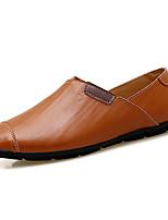 Homme Chaussures Cuir Printemps Automne Confort Mocassins et Chaussons+D6148 Combinaison Pour Décontracté Soirée & Evénement Noir Marron