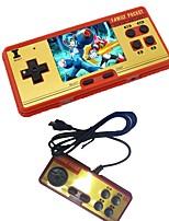 3.0 classic retro handheld game player console de videogame para crianças built-in 638 classic fc games free cartridge 2º jogador