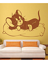 Animals Wall Stickers Plane Wall Stickers Bathroom Sink Faucets,Plastic Material Home Decoration Wall Decal