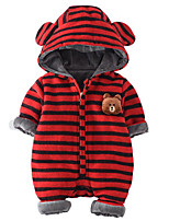 Baby Stripe One-Pieces,100%Cotton Winter Fall
