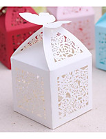 Cuboid Card Paper Satin Favor Holder With Favor Boxes Wedding Favors