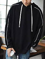 Men's Going out Hoodie Color Block Hooded Micro-elastic Others Long Sleeve Spring Fall