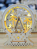 Christmas Christmas Gifts Wooden PCB+LED Wedding Decorations