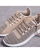 Homme Chaussures Grille respirante Printemps Automne Confort Basket Pour Décontracté Or Blanc Noir