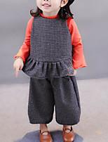 Girls' Solid Clothing Set,Cotton Fall Gray Khaki