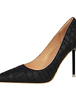 Women's Shoes Leatherette Spring Fall Comfort Heels Stiletto Heel Pointed Toe For Dress Khaki Almond Blushing Pink Gray Black