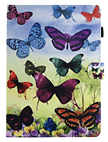 cheap -For Case Cover Card Holder with Stand Flip Magnetic Pattern Full Body Case Butterfly Hard PU Leather for Apple iPad pro 10.5 iPad (2017)