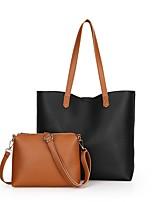 Women Bags All Seasons PU Bag Set Zipper for Casual Blue Black Red Gray