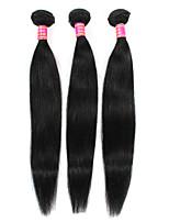 Недорогие -Необработанные Перуанские волосы Прямой силуэт Наращивание волос 3шт Черный