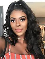 Femme Perruque Naturelle Dentelle Brésiliens Cheveux humains Sans Colle Lace Front 150% Densité Avec Mèches Avant Ondulé Perruque Noir