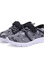Boys' Shoes Breathable Mesh PU Fabric Spring Fall Comfort Athletic Shoes Magic Tape Lace-up For Athletic Casual Blushing Pink Gray Black