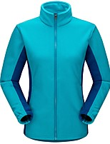 Men's Women's Hiking Fleece Jacket Keep Warm Outdoor Winter Fleece Jacket Full Length Visible Zipper for Camping / Hiking Casual Camping