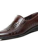 Herren Schuhe PU Sommer Komfort Sandalen Für Normal Schwarz Braun