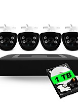 4CH 5-in-1 Built-in 1TB HDD DVR Kits 4pcs Waterproof IR Night Vision Bullet CCTV Camera Security System