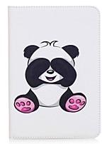 portafoglio panda modello portautensili con custodia in pelle in cuoio magnetico per fodera per la scheda galassia samsung s2 8.0 t710