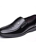 Masculino sapatos Borracha Outono Conforto Oxfords Para Preto Marron