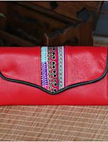 Women Bags All Seasons PU Clutch Zipper for Casual Blue Red Yellow