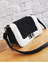 Women Bags Suede Crossbody Bag Buttons for Casual Winter Fall Black Light Gray Brown