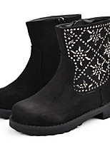 Girls' Shoes Nubuck leather Fall Winter Comfort Snow Boots Boots For Casual Black