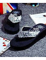 Women's Shoes Patent Leather Spring Fall Comfort Slippers & Flip-Flops For Casual Red Silver Black Gold