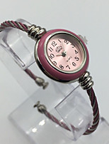 Women's Fashion Watch Bracelet Watch Quartz Metal Band Casual Pink