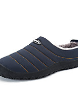 Men's Shoes Fabric Fall Winter Fluff Lining Comfort Loafers & Slip-Ons For Casual Army Green Yellow Dark Blue Black