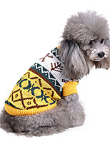Dog Sweater Dog Clothes Casual/Daily Geometric Costume For Pets